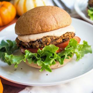 Black Bean and Pumpkin Veggie Burgers.