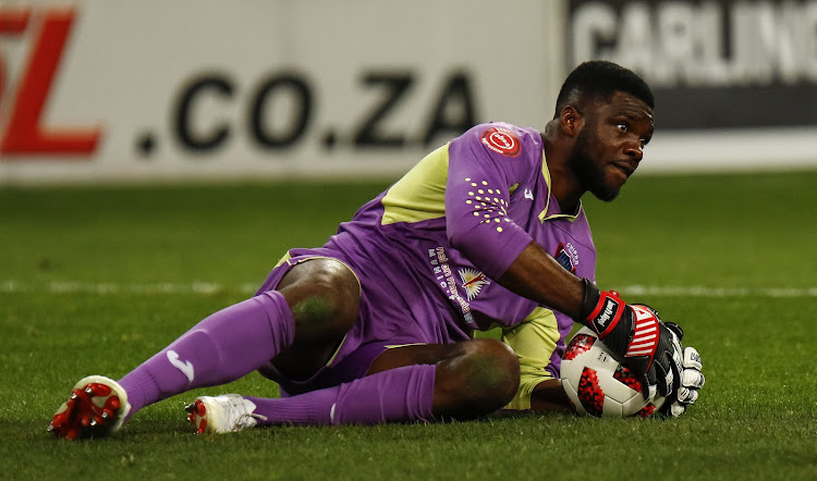 Daniel Akpeyi of Chippa United during the Absa Premiership match between Chippa United and Free State Stars at Nelson Mandela Bay Stadium on October 03, 2018 in Port Elizabeth, South Africa.