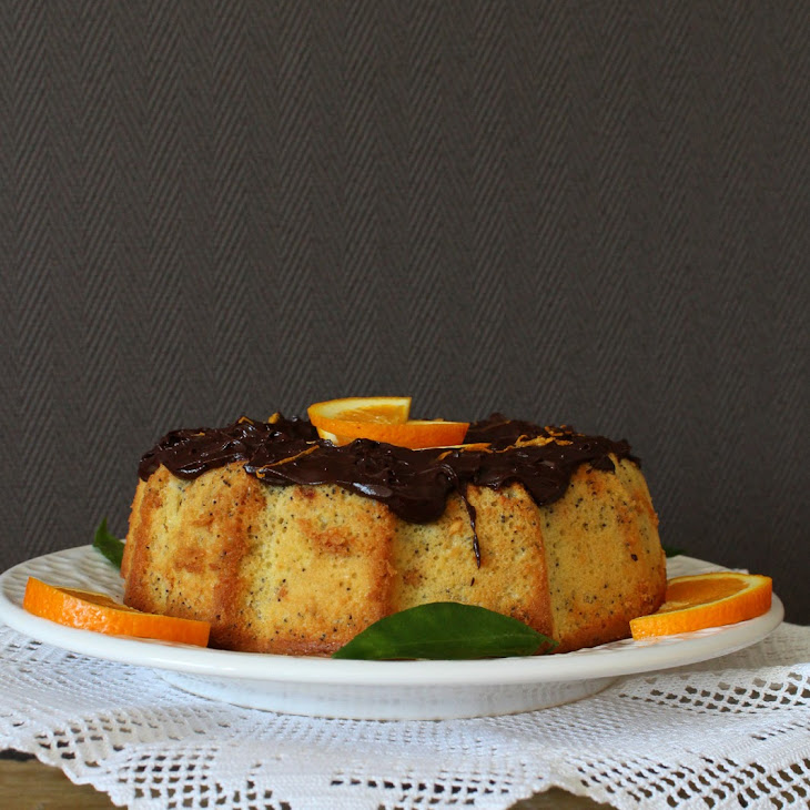Orange Cake with Poppy Seeds and Kefir