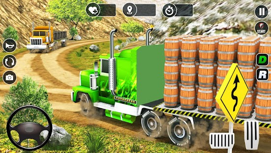 Real Truck Driver Cargo Legends Wood Transporter Screenshot
