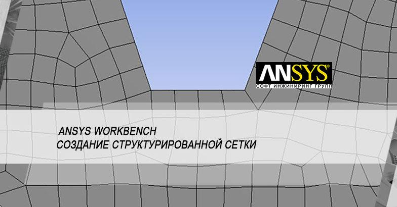 Построение структурированной сетки в ANSYS Workbench