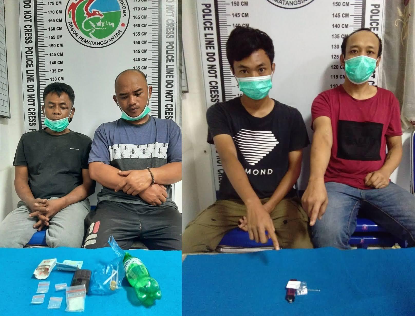 Satnarkoba Polres Siantar Berhasil Meringkus Empat orang Pelaku Narkoba Dari Dua Tempat