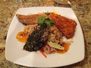 Photo: Great Dinner with good friends at Sam Choy's Kai Lanai - Sam's trio of fish....this was good!