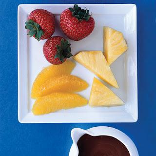 Microwave Chocolate Fondue