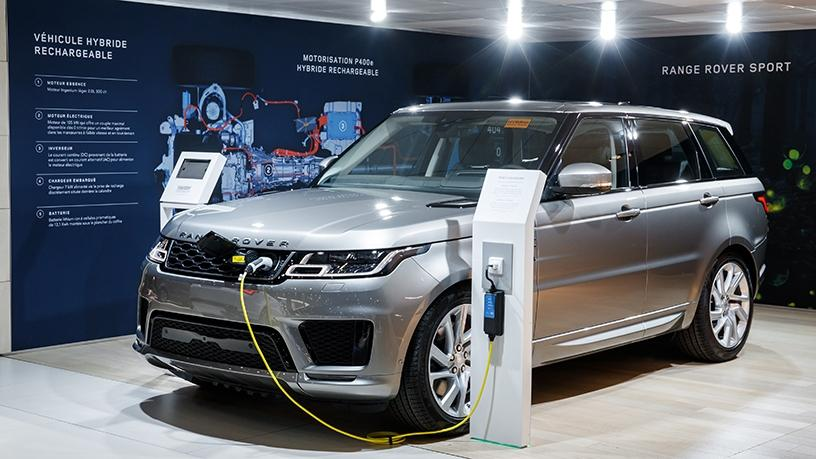 The Range Rover Sport plug-in hybrid electric vehicle