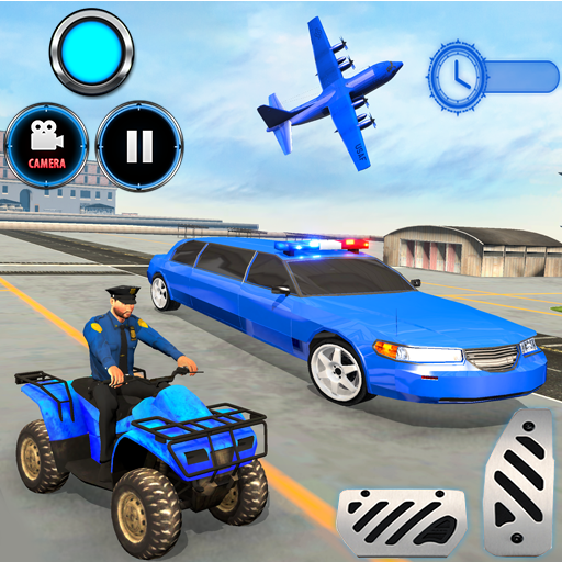 US Police limousine Car Quad Bike Transporter Game 1.0