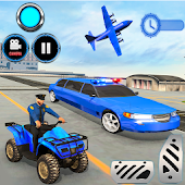 Tải Game US Police limousine Car Quad Bike Transporter Game