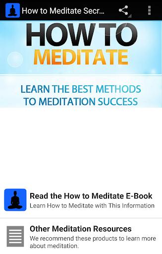 How to Meditate Secrets
