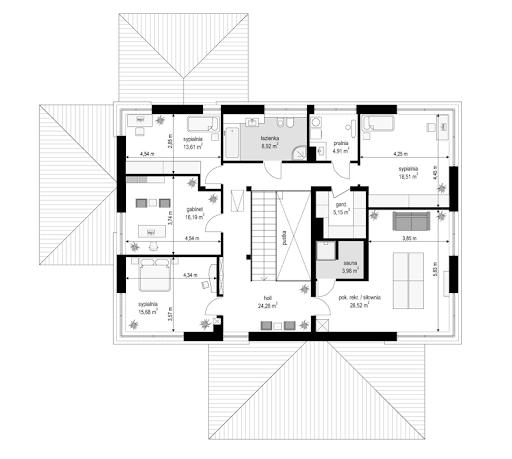 Willa komfortowa - Rzut piętra