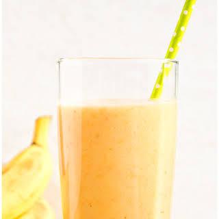 Banana Orange Mango Smoothie.