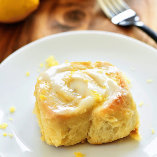 Sticky Lemon Rolls with Lemon Cream Cheese Glaze.