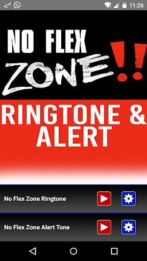 No Flex Zone Ringtone Alert