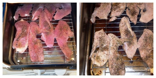 If you are smoking the breasts yourself, then salt and pepper the turkey (or...