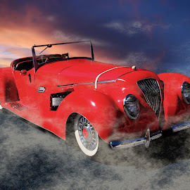 Flipped by JEFFREY LORBER - Transportation Automobiles ( dreamer, lorberphoto, rust 'n chrome, 1932, ford, jeffrey lorber, red car )