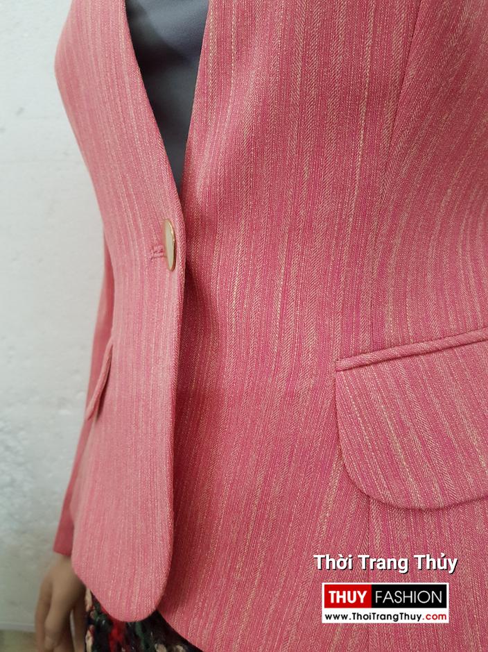 Áo vest nữ dáng ngắn màu hồng V692 thời trang thủy