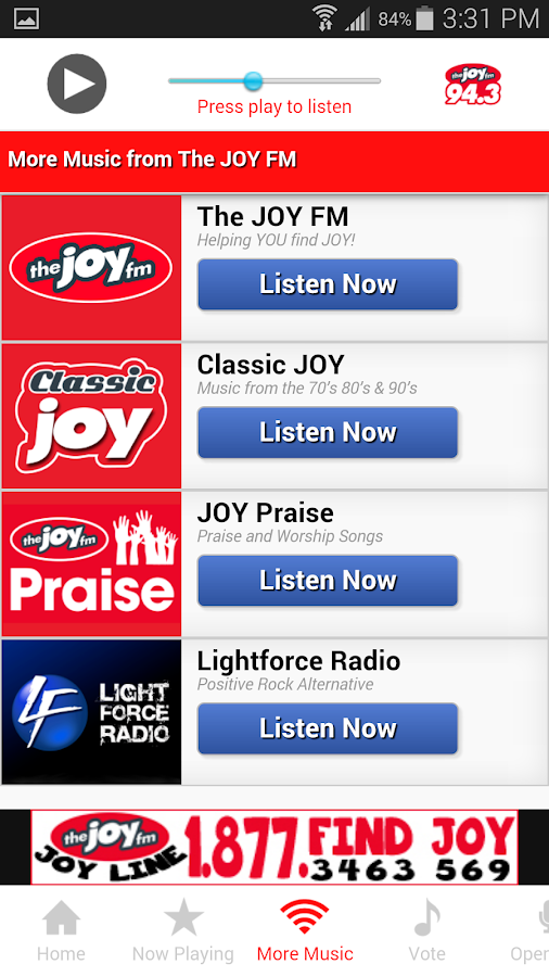 The JOY FM Alabama- screenshot