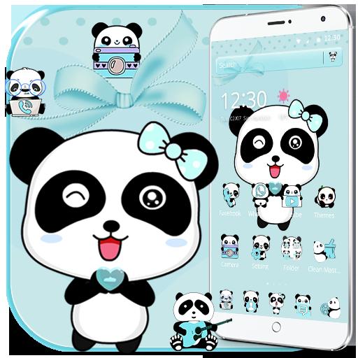Blue Love Panda Theme