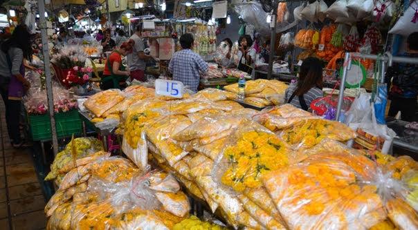Mercado de Flores Pak Khlong Talat