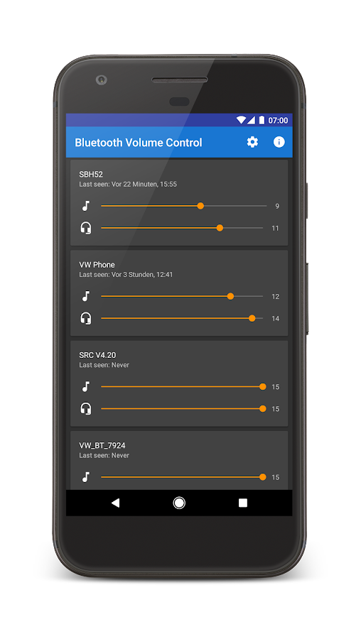 Bluetooth Volume Control- screenshot