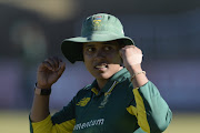 Chloe Tryon of South Africa during 1st Womens ODI match between South Africa and Bangladesh at Senwes Park on May 04, 2018 in Potchefstroom, South Africa.