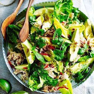 Poached Chicken Salad With Avocado And Green Papaya