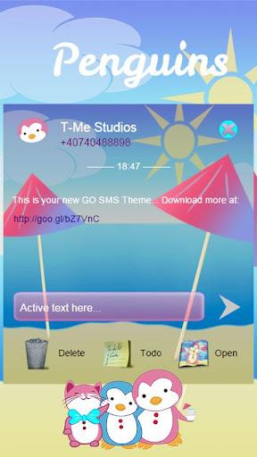 GO SMS Penguins