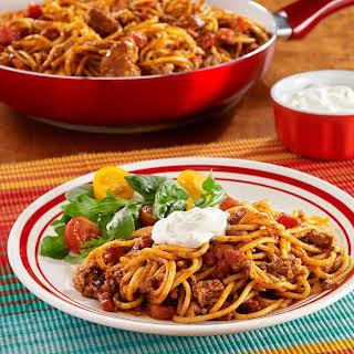 Taco Spaghetti Skillet.