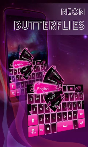 霓虹燈蝴蝶鍵盤