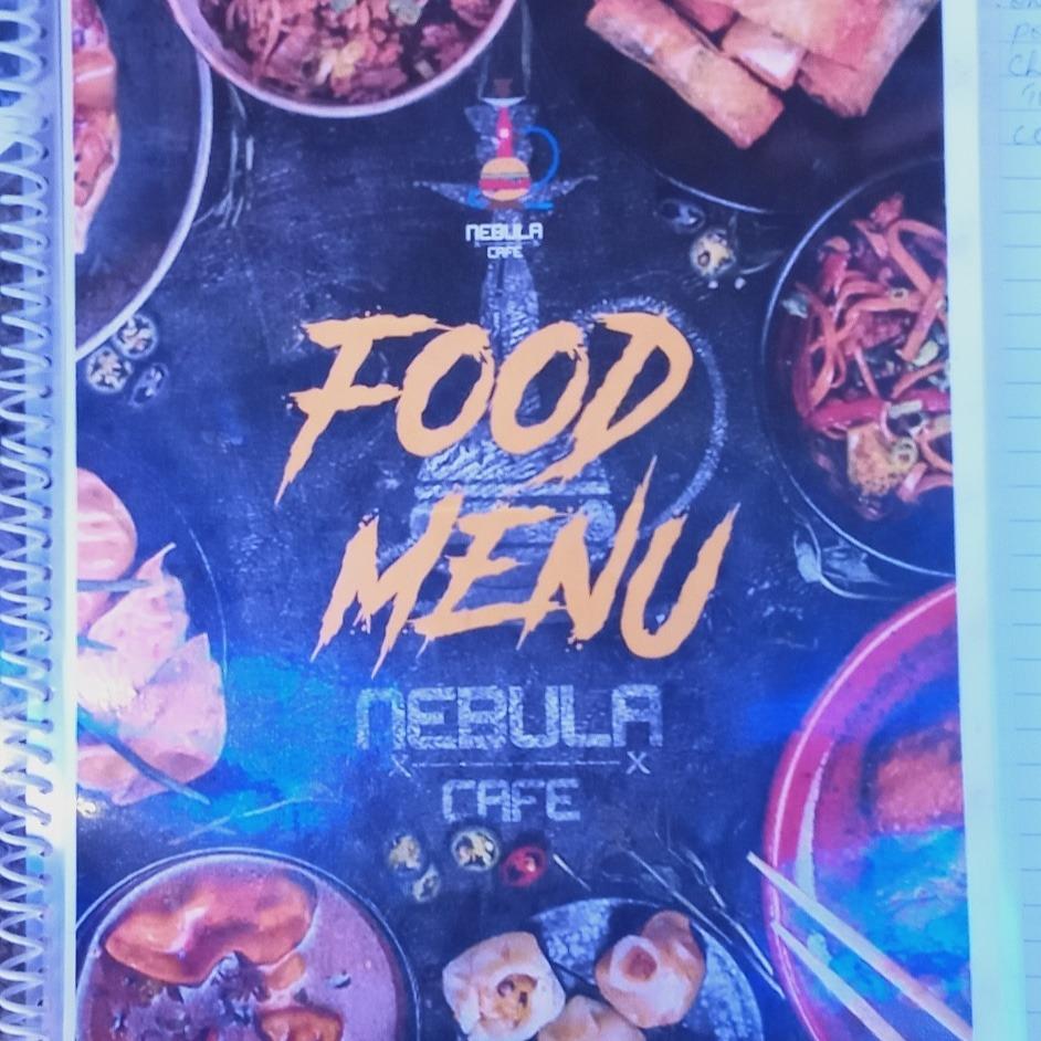 Nebula Cafe menu 1