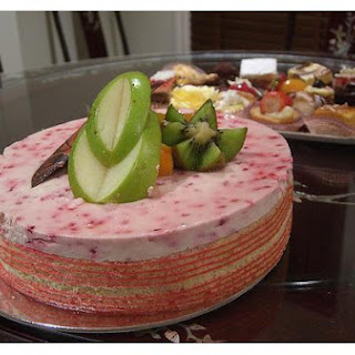 Strawberry Mousse Cake.