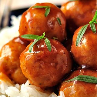 Maple Apple Cider Meatballs