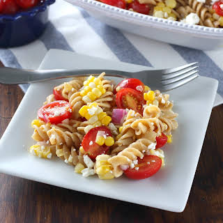 Fresh Corn and Tomato Pasta Salad.