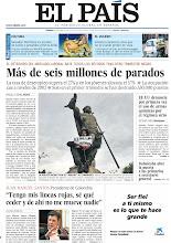 Photo: España supera los seis millones de parados; EE UU denuncia por primera vez el uso de armas químicas por el régimen sirio y entrevista a Juan Manuel Santos, presidente de Colombia, en la portada de EL PAÍS, edición nacional, del viernes 26 de abril de 2013 http://cort.as/3x3E