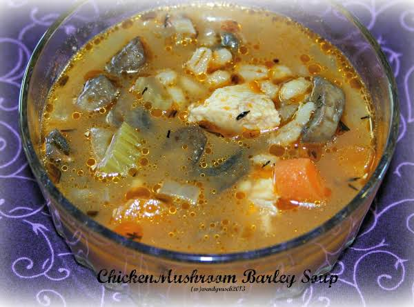 Chicken Mushroom Barley Soup Recipe