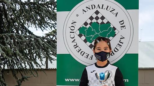 Arailym Muktarkhan, del Club Ajedrez Roquetas, campeona de Andalucía sub10