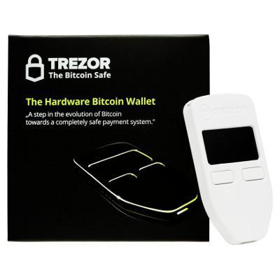 Trezor Hardware Wallet for Bitcoin BTC Ethereum Litecoin Dash