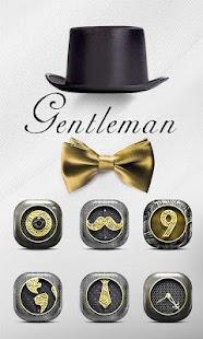 Gentleman Go Launcher Theme - náhled