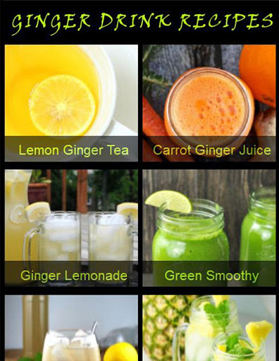 Ginger Drink Recipes screenshot 1