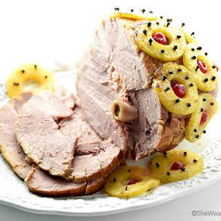 Holiday Glazed Baked Ham.