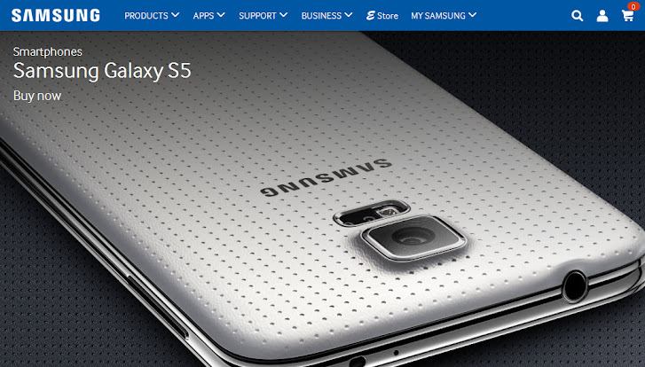 Samsung S5 home site