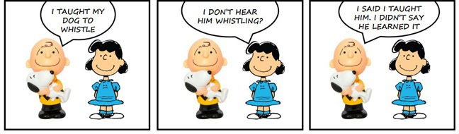 Adapted from an original Peanuts cartoon