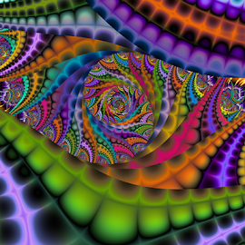 Spiral dragon by Cassy 67 - Illustration Abstract & Patterns ( digital, love, harmony, surreal, abstract art, trippy, spiral, abstract, creative, fractals, digital art, psychedelic, modern, light, fractal, style, energy, fashion )