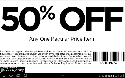 coupons for ac moore screenshot thumbnail