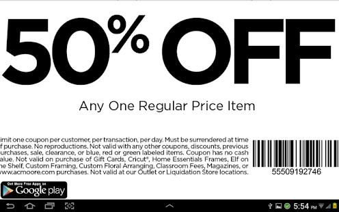 coupons for ac moore screenshot thumbnail