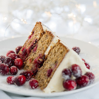 Festive Cranberry Orange and Walnut Layer Cake