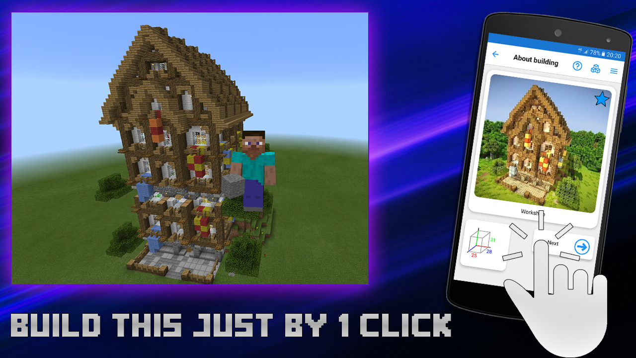 Builder for minecraft pe android apps on google play for Build house app