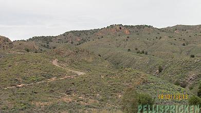 Photo: Ibland kommer vi för högt upp i bergen, det finns inget alls att se utom dessa böljande kullar