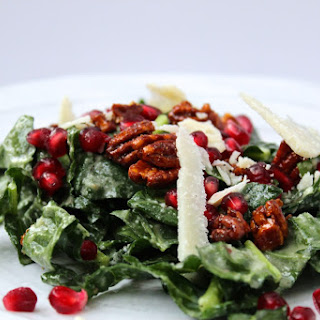 Pomegranate Kale Salad with Parmesan Viniagrette
