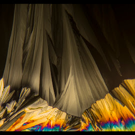 Shadowlands by Scott Taft - Abstract Patterns ( crystals, microscopic abstract art, abstract art, microscopic crystals, microscopy, abstract, abstract photography )