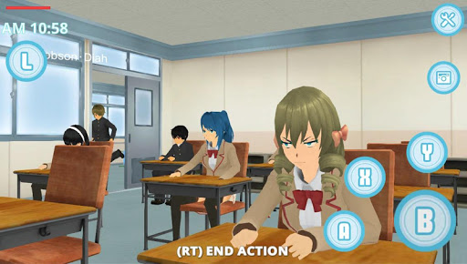 School Life Simulator  captures d'u00e9cran 1